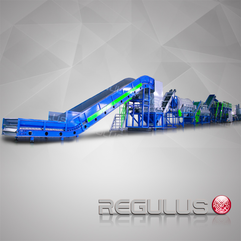 PET bottles and flakes recycling line(500-3000kg/h)